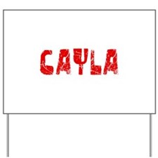 Cayla Faded (Red) Yard Sign