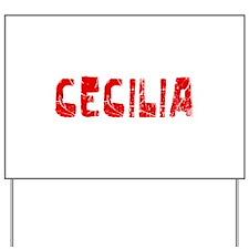 Cecilia Faded (Red) Yard Sign