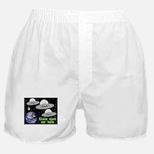 Aliens Want Our Balls Boxer Shorts