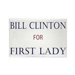 1st Lady Bill Clinton Rectangle Magnet (10 pack)