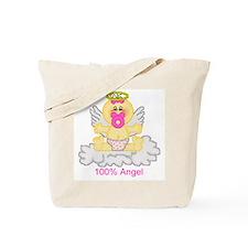 100% Angel Tote Bag