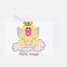 100% Angel Greeting Cards (Pk of 10)