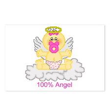 100% Angel Postcards (Package of 8)