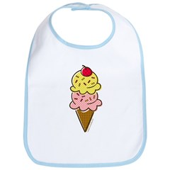 Ice Cream Cone Bib