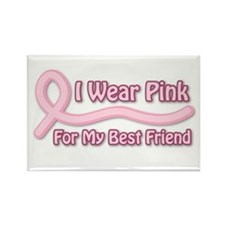 I Wear Pink For My BF Rectangle Magnet