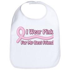I Wear Pink For My BF Bib