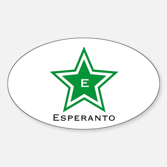 Esperanto Star Oval Decal