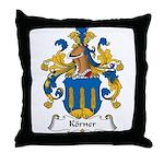 Korner Family Crest Throw Pillow