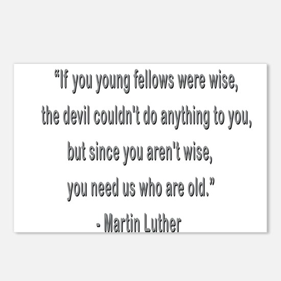 Martin Luther says why old folks are needed. Postc