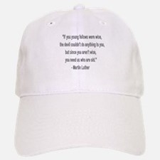 Martin Luther says why old folks are needed. Baseball Baseball Cap