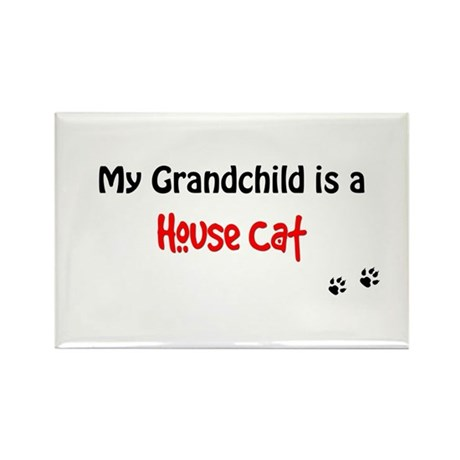 House Cat Grandchild Rectangle Magnet