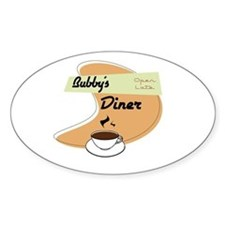 Bubby's Diner Oval Decal