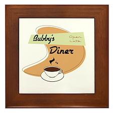 Bubby's Diner Framed Tile