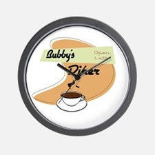 Bubby's Diner Wall Clock