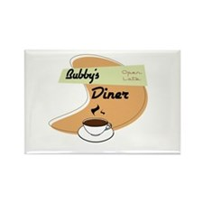 Bubby's Diner Rectangle Magnet