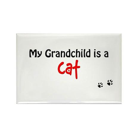 Cat Grandchild Rectangle Magnet