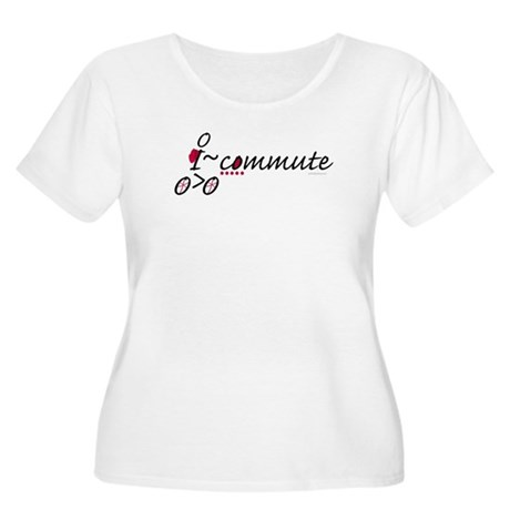 Bike Commuter Women's Plus Size Scoop Neck T-Shirt