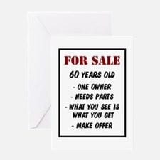 For Sale 60 Years Old Greeting Card