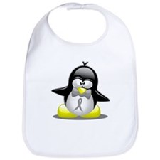 Grey Ribbon Penguin Bib