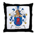 Korber Family Crest Throw Pillow