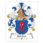 Korber Family Crest Small Poster