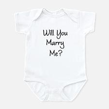 Marry Me Infant Bodysuit
