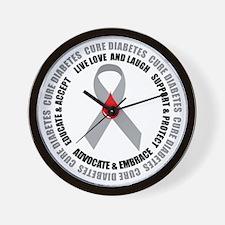 Diabetes Awareness Wall Clock