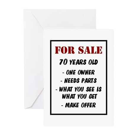 For Sale 70 Years Old Greeting Cards (Pk of 20)