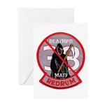 DEA Redrum Greeting Card