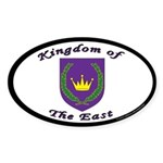 Kingdom of the East Oval Sticker