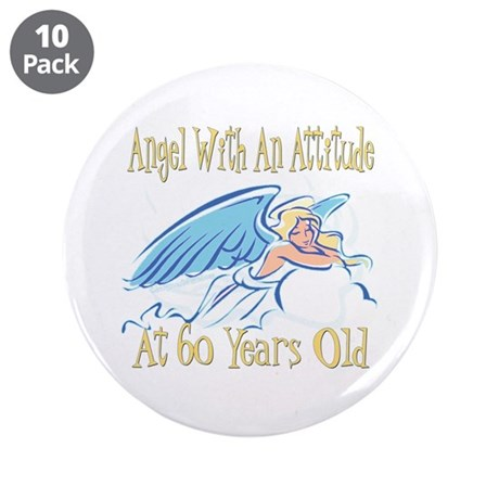 "Angel Attitude 60th 3.5"" Button (10 pack)"