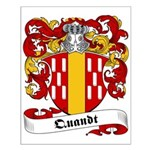 Quandt Family Crest Small Poster