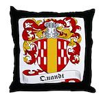 Quandt Family Crest Throw Pillow