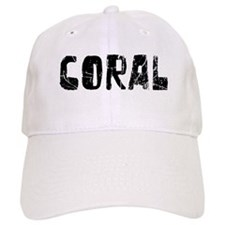 Coral Faded (Black) Baseball Cap