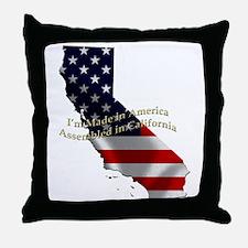 Unique Made in california Throw Pillow