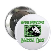 """Earth Day Panda 2.25"""" Button (10 pack)"""