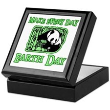 Earth Day Panda Keepsake Box