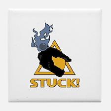 halo - stuck! Tile Coaster