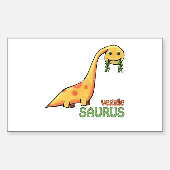veggiesaurus Rectangle Decal