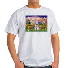 Autumn Angel Schnauzer T-Shirt