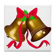 Christmas Bells 2 Tile Coaster