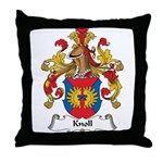 Knoll Family Crest Throw Pillow