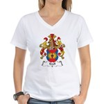 Knoll Family Crest Women's V-Neck T-Shirt