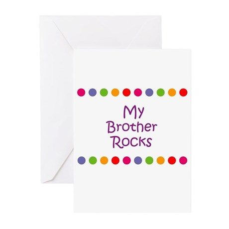 My Brother Rocks Greeting Cards (Pk of 10)