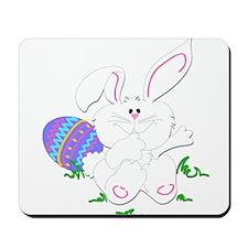 Cute White Bunny Mousepad