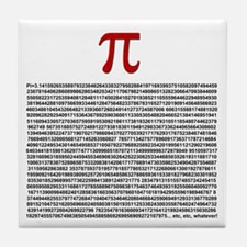 Pi = 3.1415926535897932384626 Tile Coaster