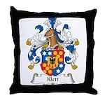 Klett Family Crest Throw Pillow