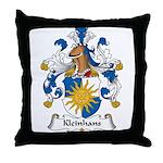 Kleinhans Family Crest Throw Pillow