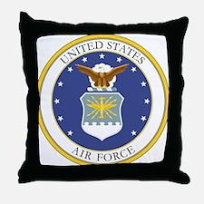 USAF Coat of Arms Throw Pillow