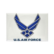 USAF 3 Diamond Symbol Rectangle Magnet